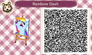 Rainbow Dash Animal Crossing Pattern QR Code by PrismsPalette