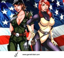 Lady Jaye and Scarlett by Mythical-Mommy