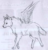 Angel Wolf by ZacharyWolf