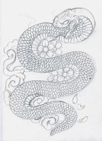 Snake cherry blossoms by 12KathyLees12