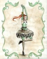 green ballerina by Kayla-Noel