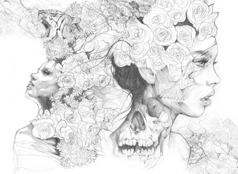 Pencil drawing Mash up by ART-BY-DOC
