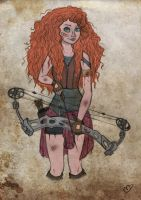 The Walking Disney/Pixar : Merida by Kasami-Sensei