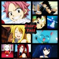 Commission: Fairy Tail Collage by YellowKiiroitori