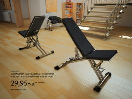 Model-inclined bench I by 3DPORTFOLIO