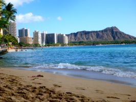 Waikiki and Diamond Head by Jazzlednightmare16