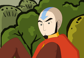 Adult Aang - XS Style by juanito316ss