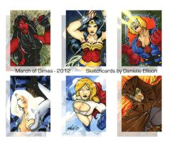 March of Dimes 2012 Sketchcards by Marker-Mistress