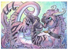 ACEO - Kyuubreon by drachenmagier