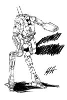 CRT-0 Cricket BattleMech by prdarkfox