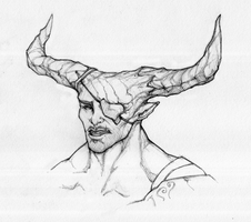 The Iron Bull - line art by Megume
