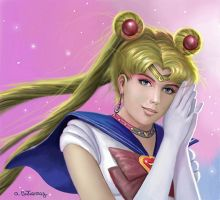 Senshi Sailor Moon by AlanGutierrezArt
