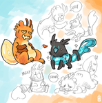 Photon and Ripple by griffsnuff