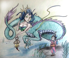 Day 23- Yokai (River Spirit) by Mezzeril