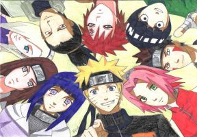 Naruto and his friends by hoshinoame
