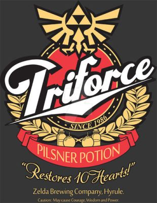 Triforce Pilsner Potion by Magmakensuke