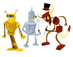 Futurama robot stickers? by VivzMind