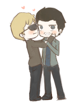 Deucalion and Peter by maicafee