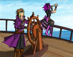 Of Pirates And The Sea by Hazel-Almonds