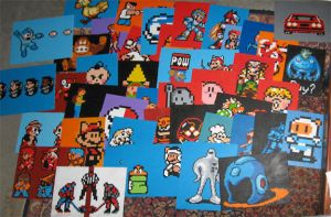 Paintings for MAGfest by Squarepainter