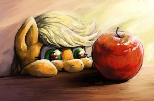 The wonder of an apple by Audrarius