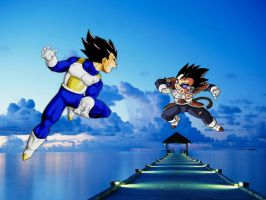 Vegeta vs Tarble by Aari7