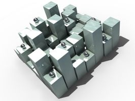 abstract boxes 1 by 3dchris89