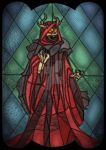 The Horned King - stained glass villain by unclefrogface
