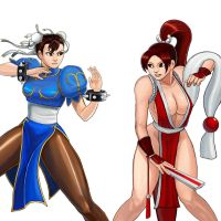 Player Select: Chun-Li VS Mai by Garoooooh