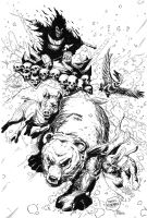 Stuff of Legend homage to Frazetta Inks by DerekRodenbeck