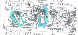 SHINee studying by germaniac-brendalism