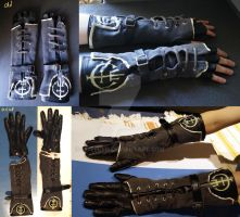 Overseer fingeless-gloves (+ new version) by Feivelyn