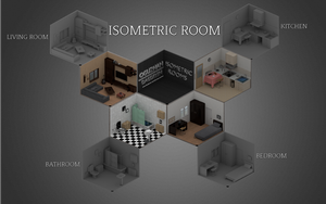 Isometric Rooms  -Created by Oguzhan Dagdelen by OguzhanDagdelen
