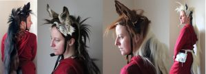 Horse mane, ears, and tail costumes by lupagreenwolf