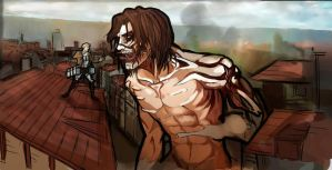 Captain America Attack on Titan crossover by M34g4nCr0w13y