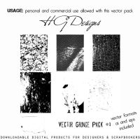 Vector Grunge Pack 1 by HGGraphicDesigns