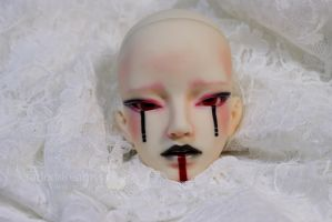 K-doll Kael - face up commission by fadeddreamss