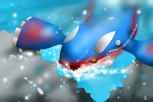 Kyogre the great sea king by Lovelessdeception
