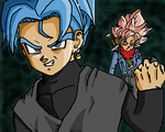 Evil Trunks vs. Goku Black | WHAT IF by Demon98