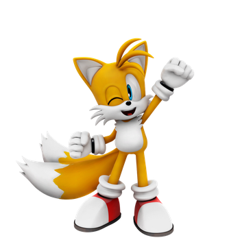 Tails Awesome Pose! by Nibroc-Rock