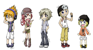 +twewy+ Hero Chibis by Ali-Moonlight