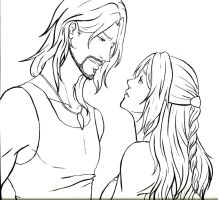 Virgil and Astrid - Lines by ChibiKinesis