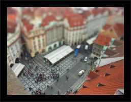 Tilt Shift - Streets of Praha by johnnytourettes