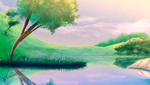 Quick Background Painting: The lake by Meeche-Max