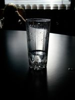 Glass on the table by CHritzel