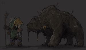 Syllabear, the Lone Druid by Halycon450