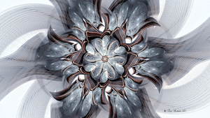 My vision of a marbleized flower 07302015 by TeriKub