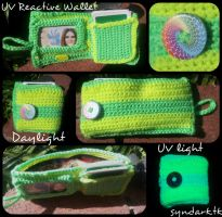 UV Reactive Wallet Yellow and Green by mascaraeyez