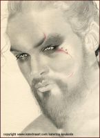 Sketch- Khal Drogo GAME OF THRONES by Katerina-Art