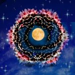 Psychedelic Moon Mandala by accebere
